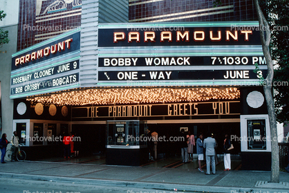 Paramount Theater, marquee, building