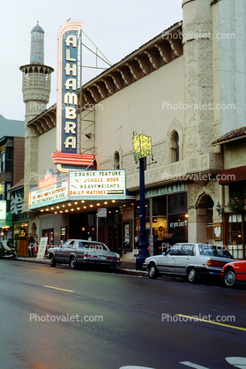 Alhambra Theatre, Polk Street, marquee, building