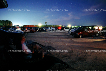Movie Screen, Drive-in Theater, cars