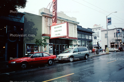 Clay Street Theater, Fillmore Street, rain, rainy, wet, street