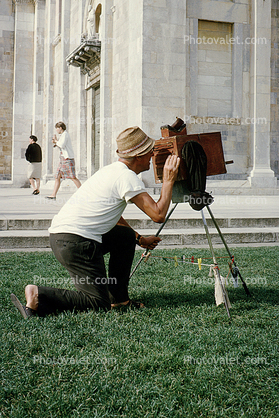 Old-time photographer, View Camera