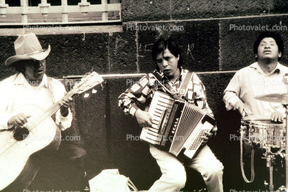Mexican Band, Guitar, Accordion, Snare Drum, Mexico City