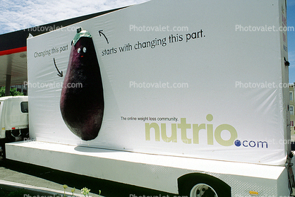 Moving Billboard, eggplant, nutrio.com