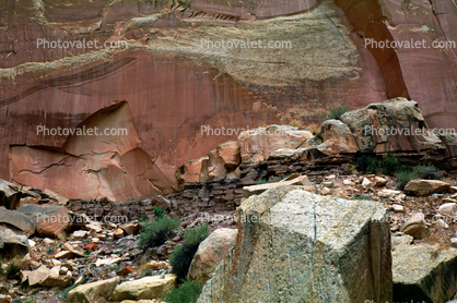 Petroglyphs, cliffs, rock, stone, Capitol Reef National Monument