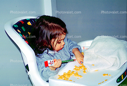 Child Seat, High Chair, Goldfish Crackers