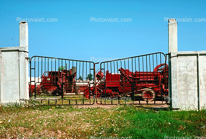 Mechanized Farming, Communal Farm, Moscow, Russia, Gate, 1978, 1970's