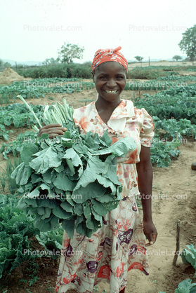 Woman with her Harvest, Smiles