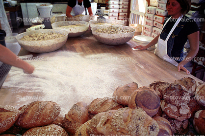 Bakery, Bakeries, Kneading Dough