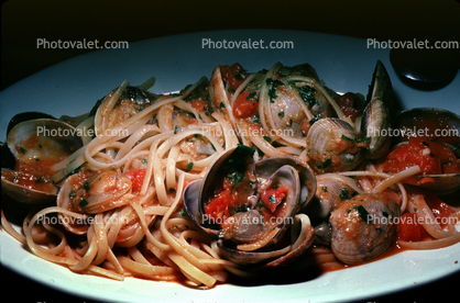 Vongole Pasta, clams, shellfish, seafood, Clams, Bivalve