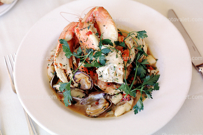 Crab Claws, Cilantro, steamed, seafood, shellfish