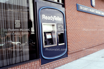ReadyTeller, Security Pacific National Bank, ATM, Automated Teller Machine