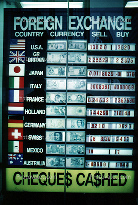 Foreign Exchange Rates, Chart