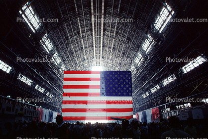 Moffett Field Blimp Hangar, Old Glory, USA, United States of America, Star Spangled Banner