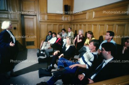 Lawyer, Jury, Juror, People, Trial, Court Session, person, talking, speaking, gestures