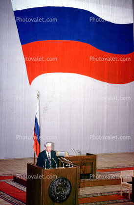 Boris Yeltsin, Russian Flag