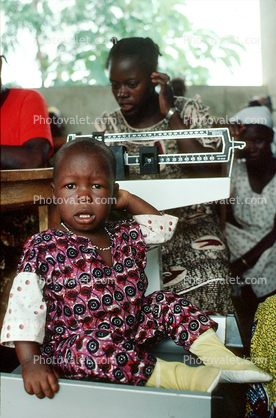Weighing a Toddler, Scale, Well Baby Clinic, Bobo-Dioulasso