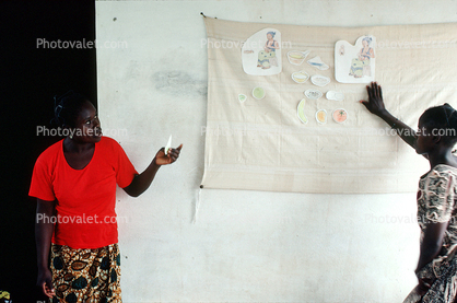 Teaching Mothers Basic Health Care for their Children, Well Baby Clinic, Bobo-Dioulasso, Burkina Faso