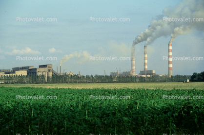 Cement Works, Lime Cement Factory, smoke
