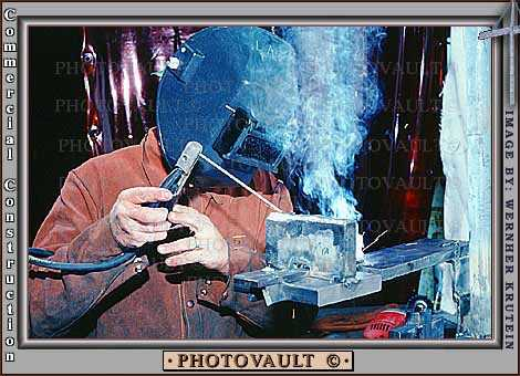 Electric Welding, Welder, Protective Mask, Hands, Gloves, smoke