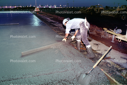 early morning pouring cement for a large floor