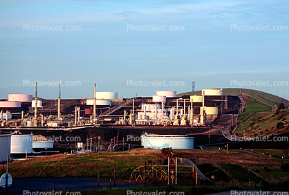 Oil Storage Tanks, Refinery
