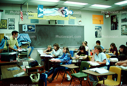 Students, Teacher, Classroom, High School