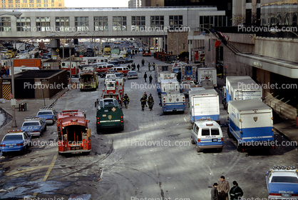 Police, Firetruck, Emergency Vehicles, 1993 World Trade Center bombing, February 26, 1993