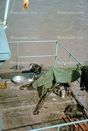 Machine Gun, Mekong River, Vietnam War