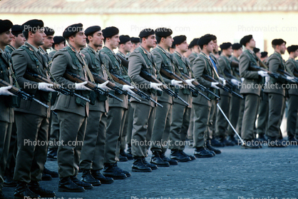 Soldiers in Attention, Rome, Italy