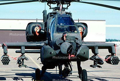 nose sensors, AH-64 Apache head-on