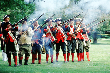 Revolutionary War, combat, battlefield, troops, uniforms