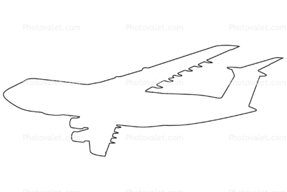Lockheed, C-5 outline, line drawing, shape