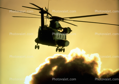 airborne, flight, flying, Sikorsky CH-53 Stallion