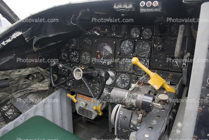 Cockpit, Douglas A-3D-2 Skywarrior, 523, 147666, Aerospace Museum