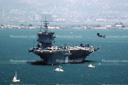 CVN-65, Nuclear Powered aircraft Carrier, October 1985, 1980's
