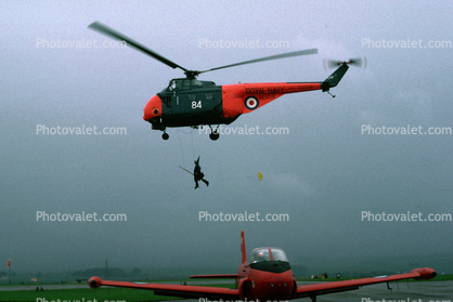 XN302, Witch on a Broom flying, Westland Whirlwind HAS.7, Royal Navy