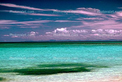 Tropical Island, Beach, Clouds