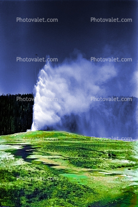 Old Faithful Geyser, landmark