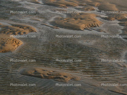 Beach, Sand, Water, Patterns, Cape Henlopen State Park, Lewes, Delaware, Windy, Windblown, Wet, Liquid