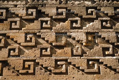 Mayan Architecture Rock Wall Mosaic Ornate Patterns