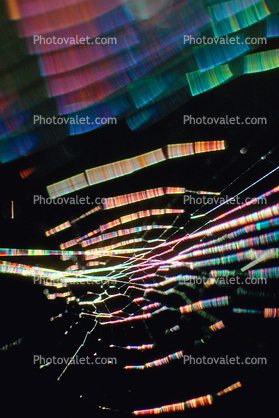 Chromatic Spectrum off a Spider Web, Rainbow Sheen, Mill Valley, California