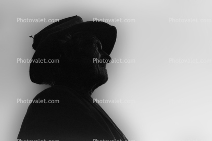 Old Man with Hat Profile