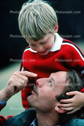 Father and Son moment, tender, loving