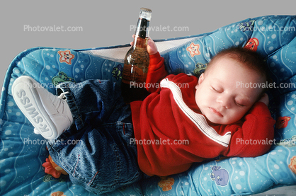 Baby, Boy, Beer, Bottle