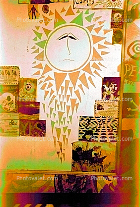 The Bewildered Sun, Boys bedroom, 1968, 1960's, San Diego, California, Loma Portal, My Room, Posters, psyscape
