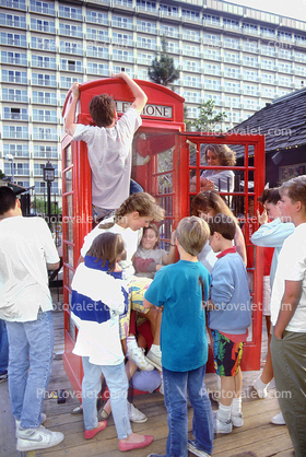 stuffing phone booth