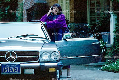 Cell Phone, Woman, Car