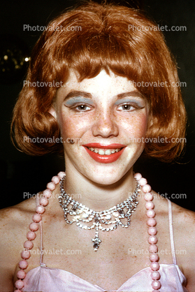 White Dress on Teen  Crossdresser  Necklace  Dress  Redhead  Boys In Drag  Glamorous
