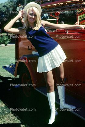 Skirt boots mini Blonde