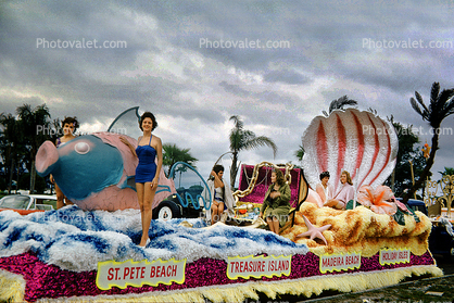 Fish, St. Pete Beach, Treasure Island, Waves, Ocean, Festival of States, St. Petersburg, Florida, 1960's